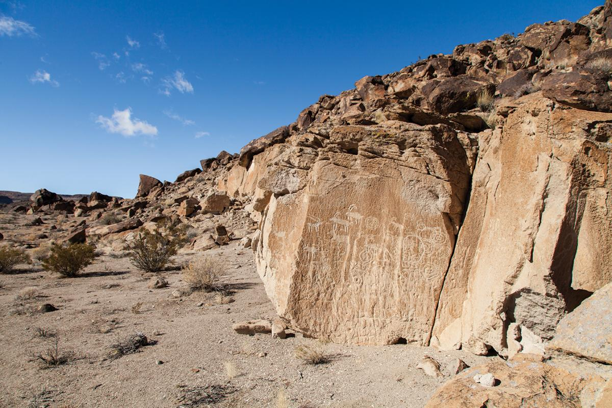 Desert in danger: Dramatic valleys, petroglyphs, sand dunes and snow-capped mountains show the range of the Desert National Wildlife Refuge.