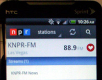 NPR on Android