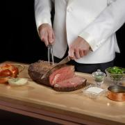 Prime rib cart at Mayfair
