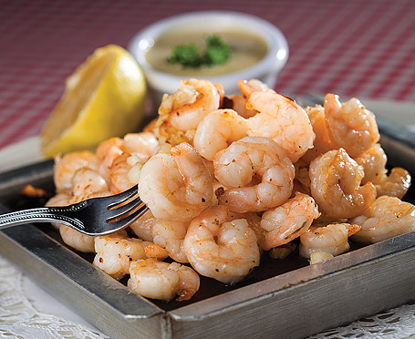 Best dish served on a stone: Carmine Little Italy's Shrimp on a Stone