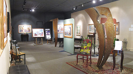 paintings and sculpture in the Randsburg Art Gallery