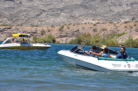 Boating on Lake Mead