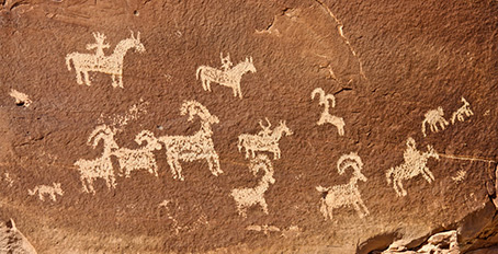Horses pictograph