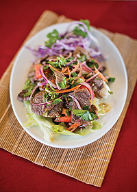 Flavor punch: Angus beef  salad at Kung Fu Thai