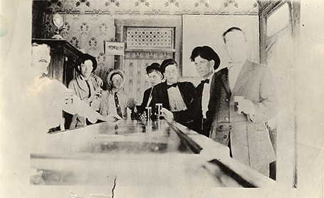 Prohibition era bar.
