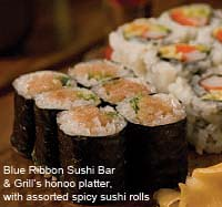 Blue Ribbon Sushi Bar and Grill honoo platter