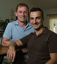Once the law took effect, there was that moment of realization: Wow, thats my spouse, says Michael Ginsburg, right, with his partner Tod Story.