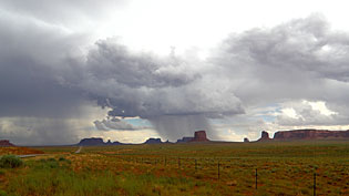 Cloud Burst in Monument Valley