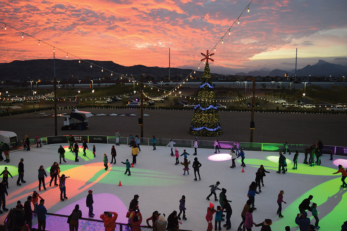 Downtown  Summerlin ice rink