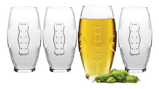 Cathy's Concepts glass football tumblers
