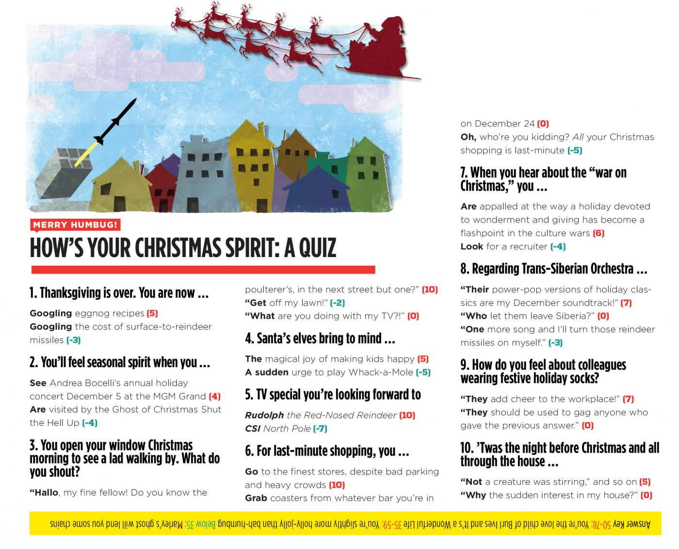 Zeit: Merry humbug! How\'s your Christmas spirit? A Quiz | Nevada ...