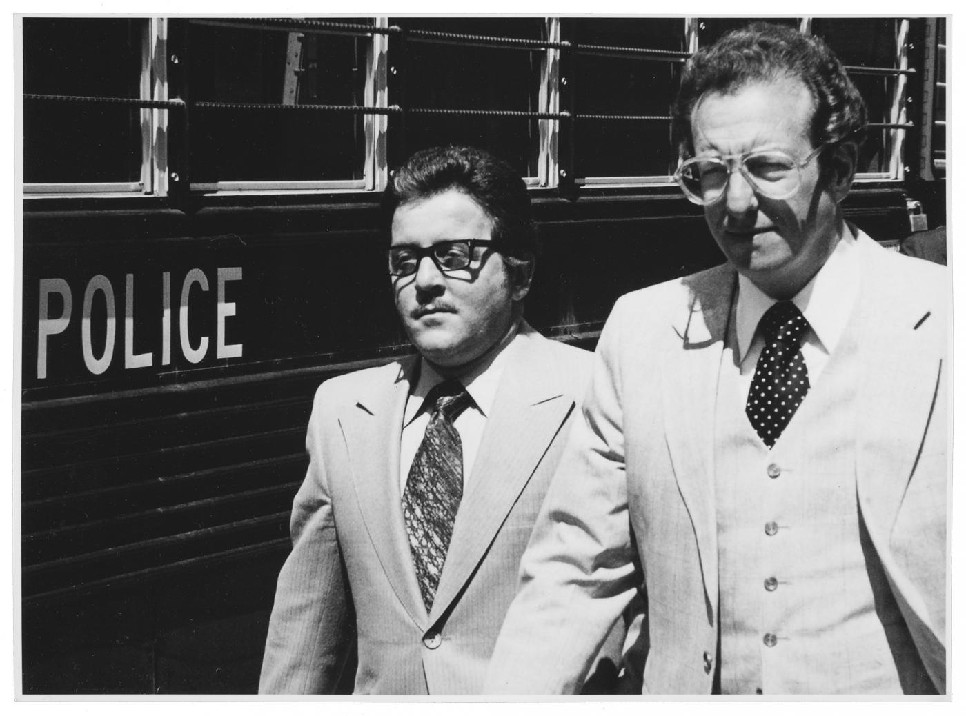 The Outfit's misfit: Tony Spilotro, left, with his attorney Oscar Goodman in April 1980