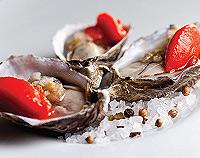 Signature dish of the year: Kusshi oysters with tabasco sorbet