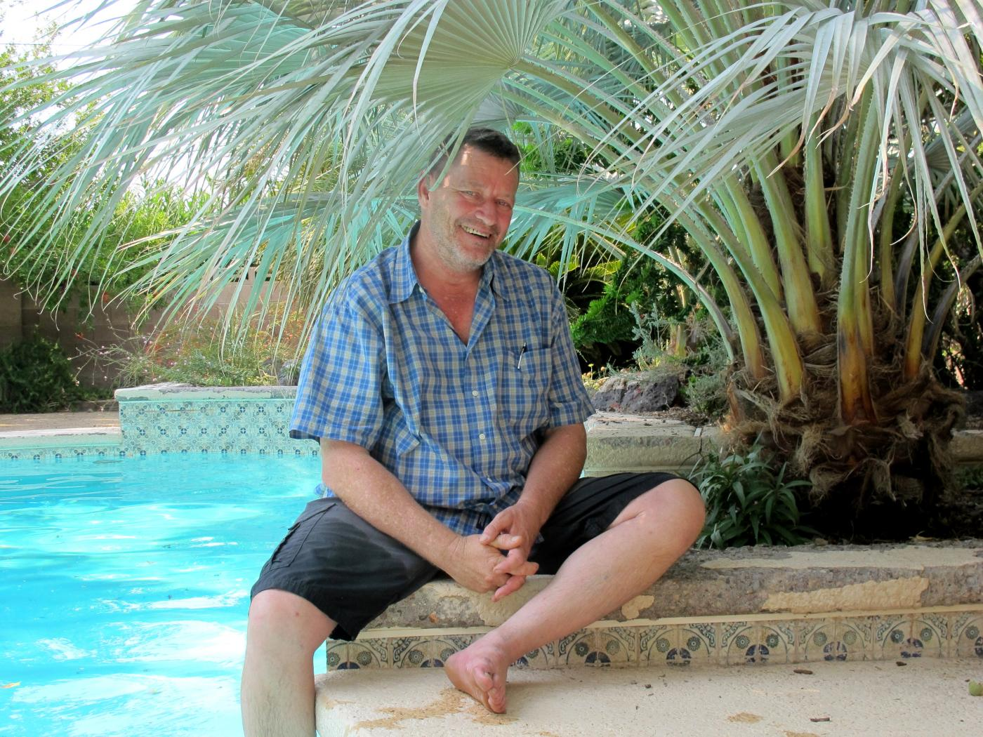 Norm by the pool
