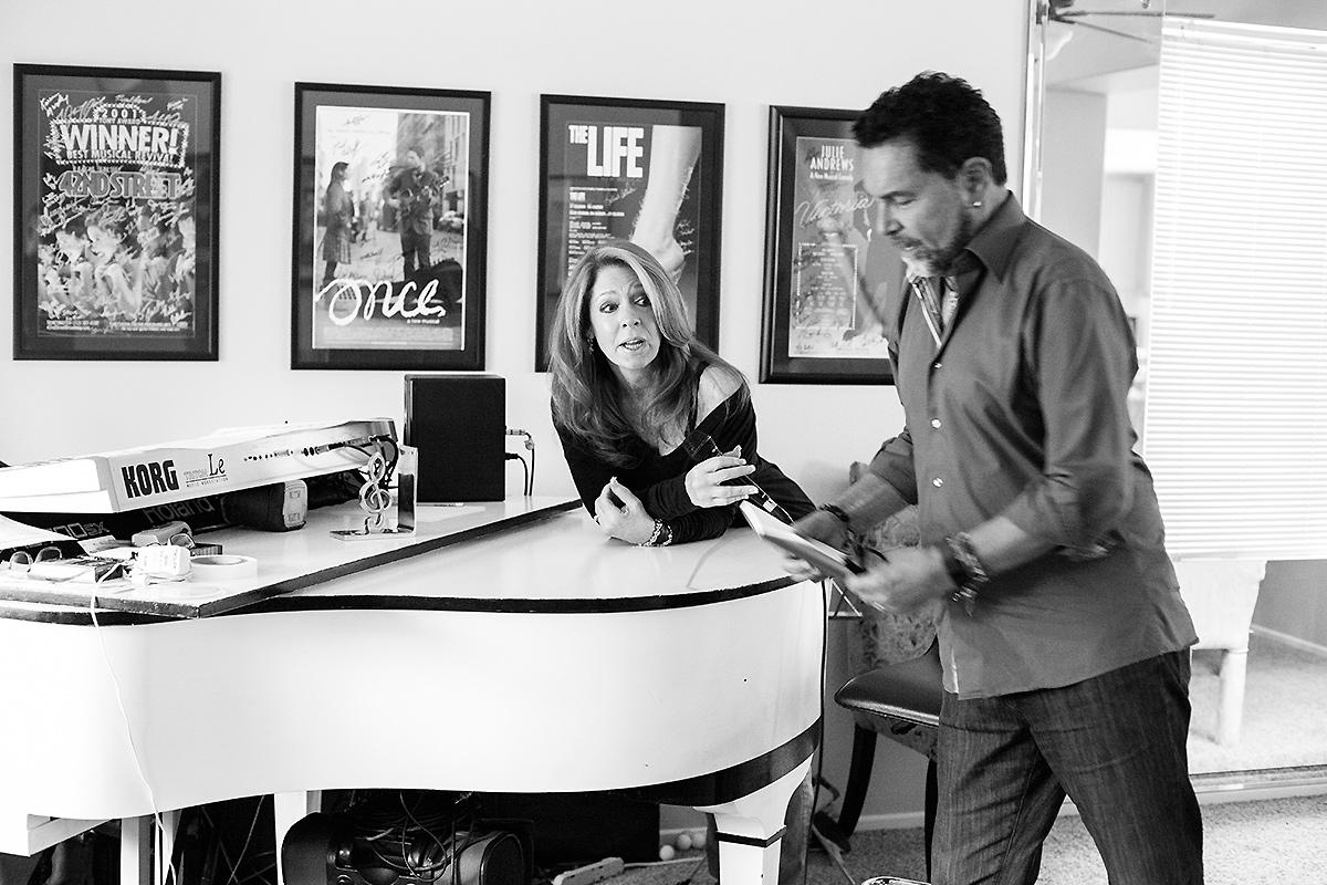 Coffee and rehearsal with Clint Holmes and Kelly Clinton-Holmes