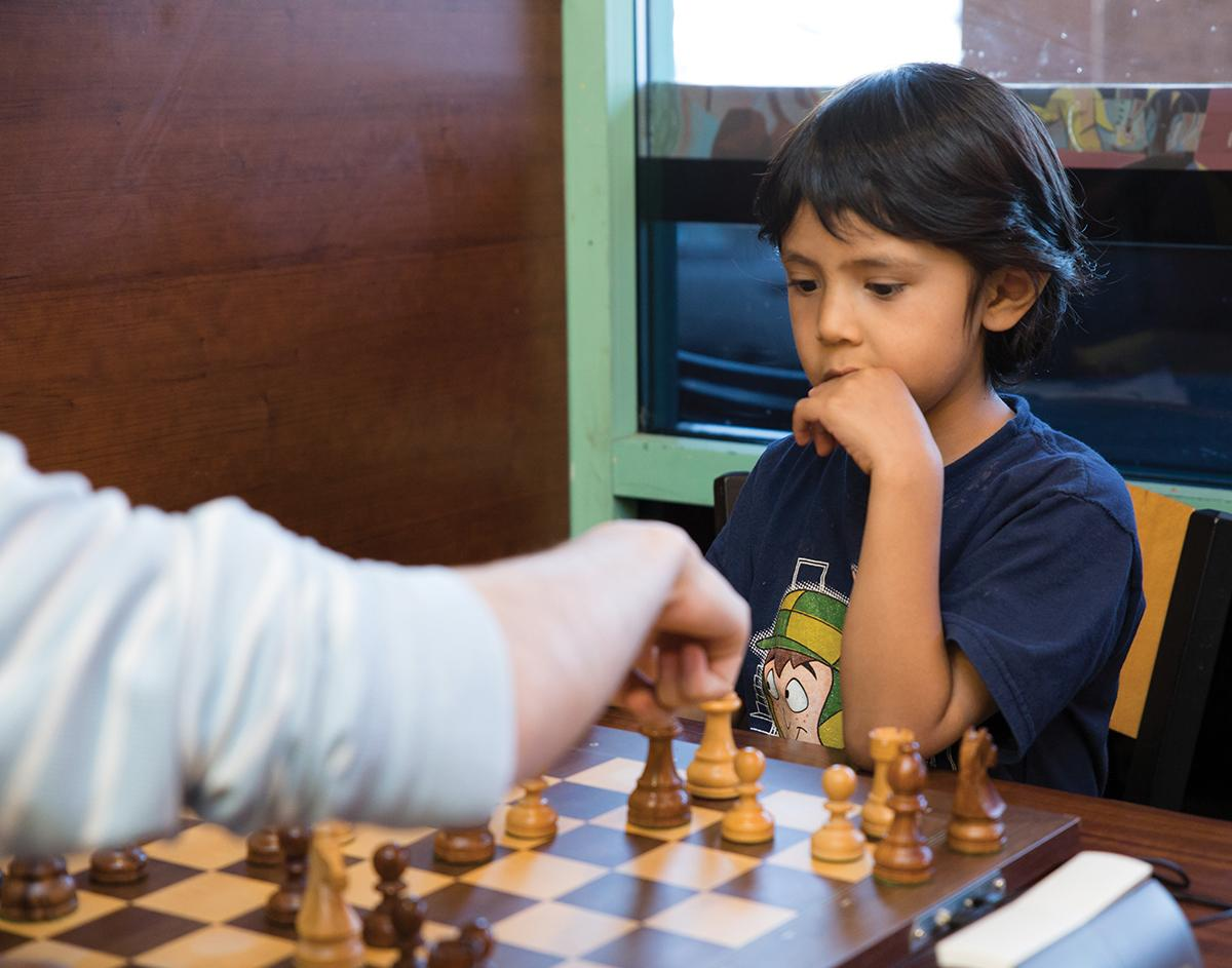 Checkmate Tournament's casual chess club meets Fridays.