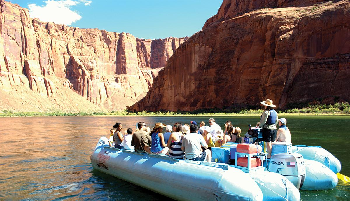 Boating on the Colorado is a must-do