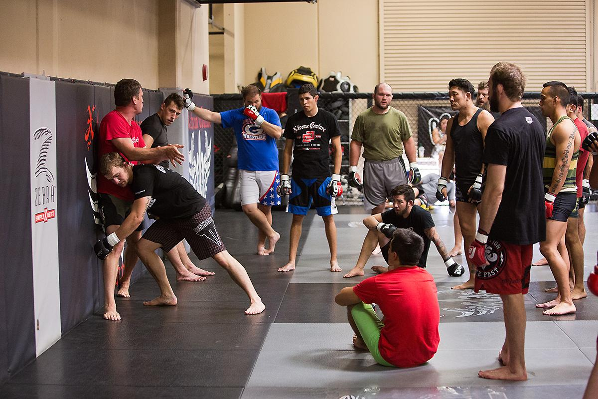 School of hard knocks: A class at Xtreme Couture gym