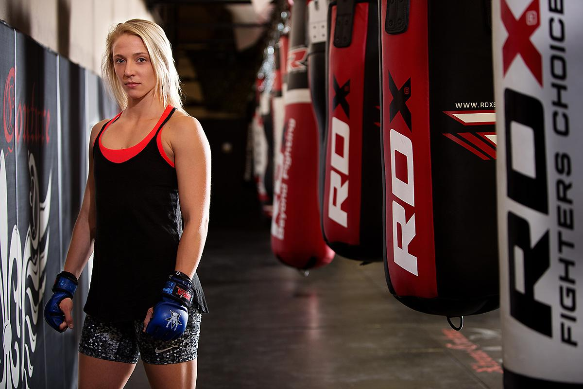 Aspiring MMA fighter Emily Whitmire is committed to making it big.