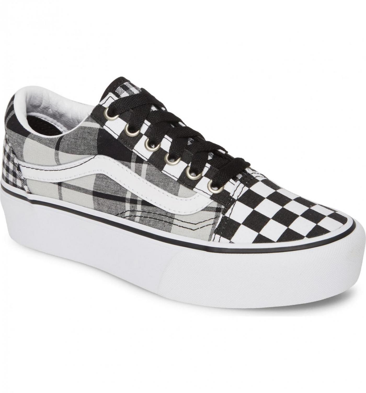Vans Plaid Checkerboard Era Platform Sneaker