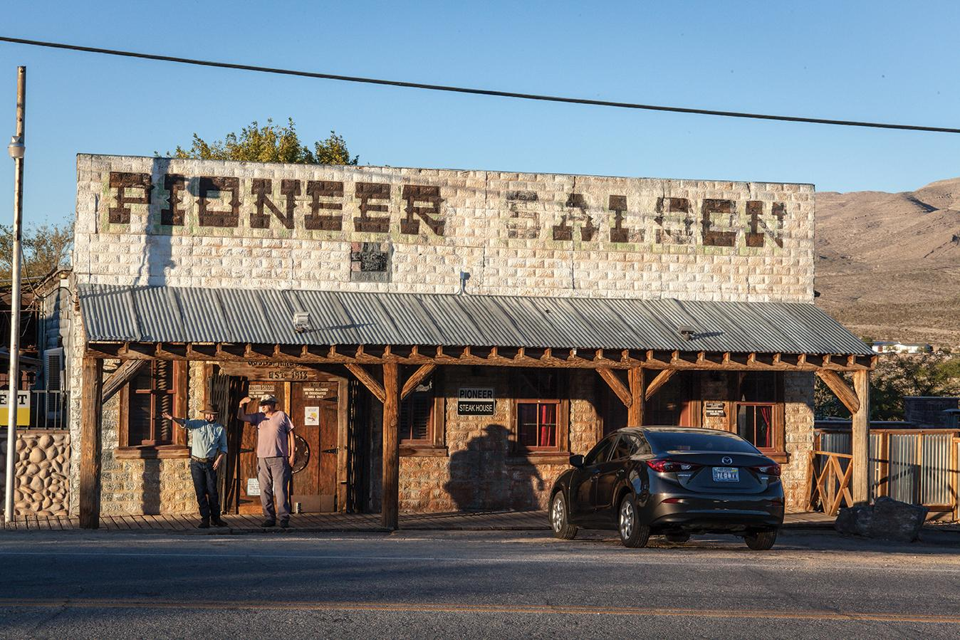 The Pioneer Saloon in Goodsprings offers modern amenities with a backdrop of Wild West history.