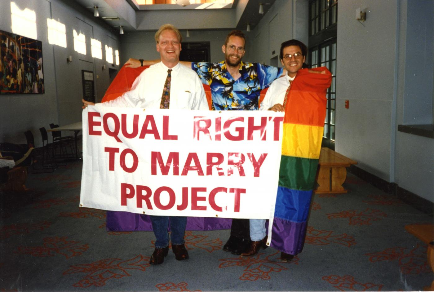 Equal Right to Marry project at the Clark County Library Aug. 2 1996