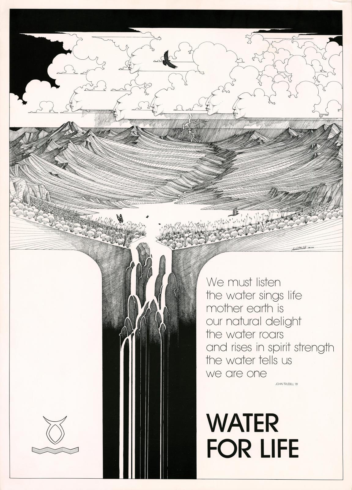 Water For Life, 1981, Poster, 25 x 18 inches