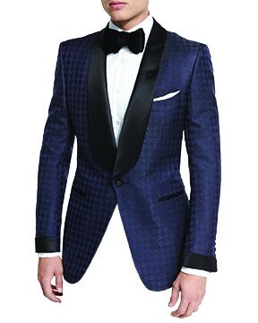 Tom Ford wild patterned tuxedos Tom Ford O'Connor Base Houndstooth Jacquard dinner jacket,