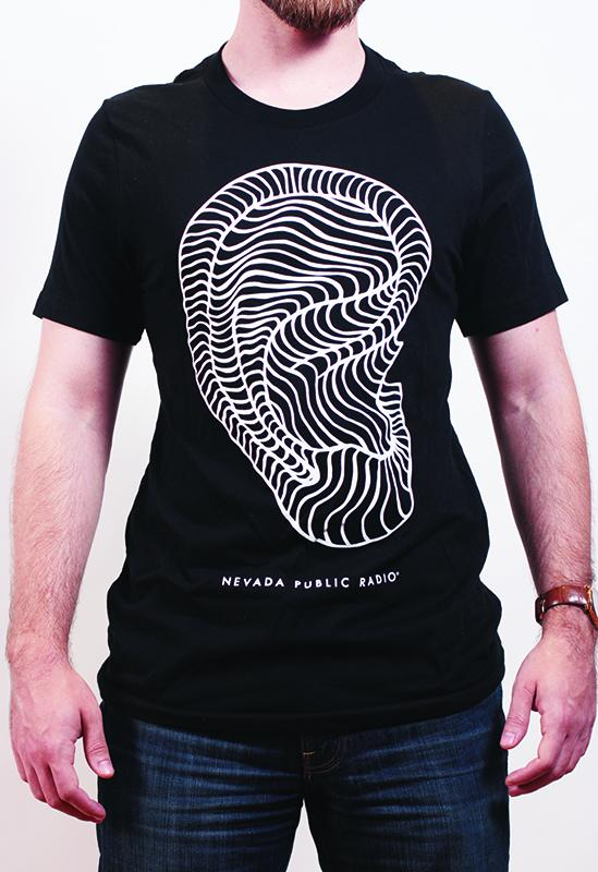 T-shirt with black and white design