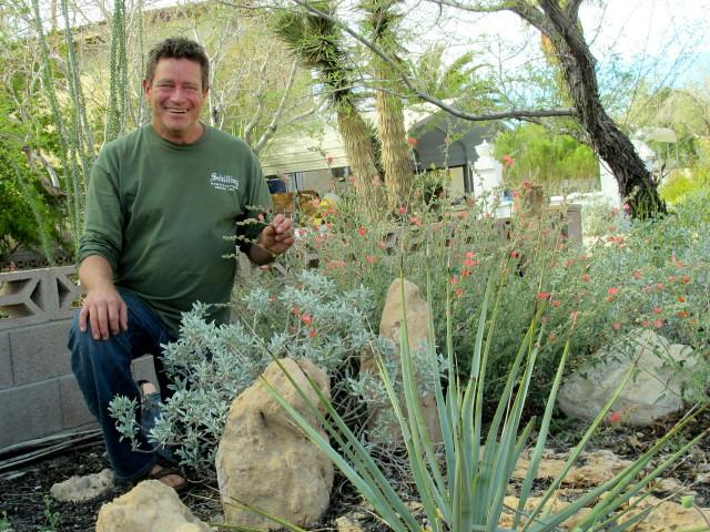 Norm Schilling with his native garden