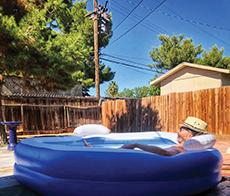 Andrew in the Kiddie Pool