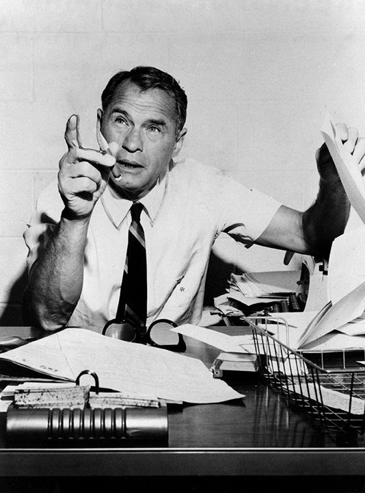 Las Vegas Sun Publisher Hank Greenspun in 1966