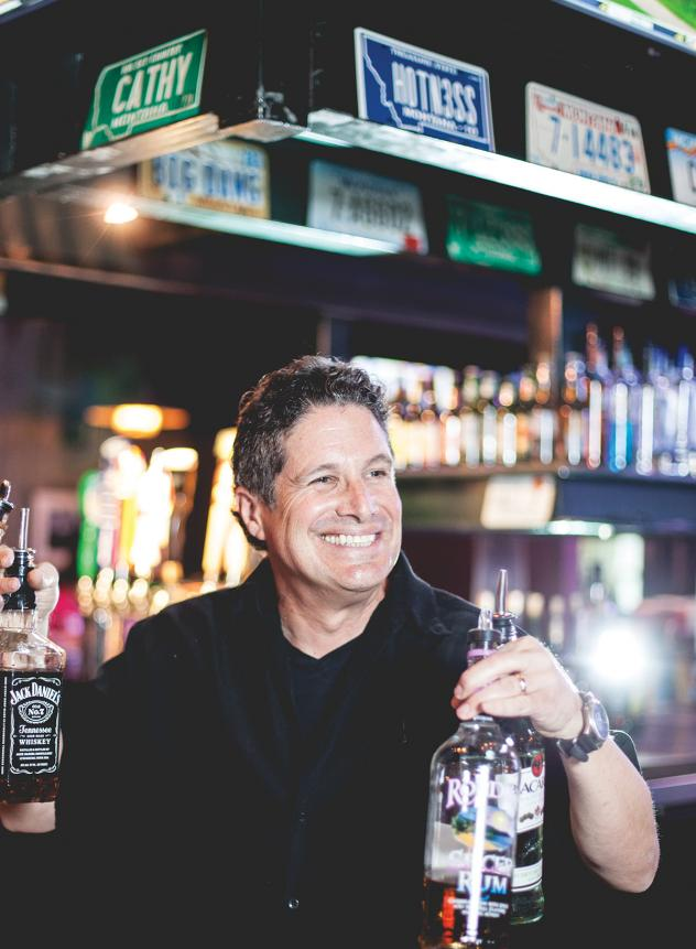 High spirits: Bar chief Eric Snyder has a tale for every occasion.