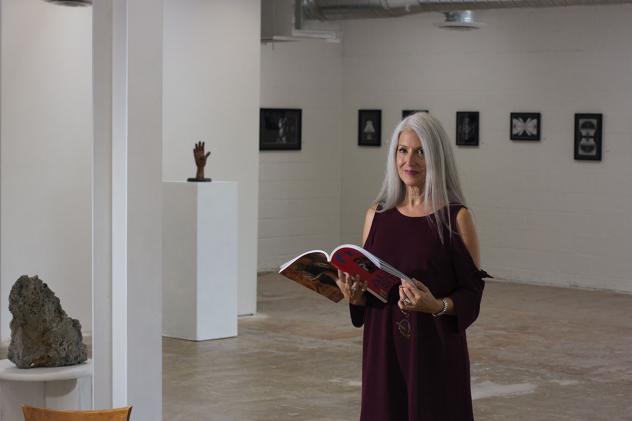 Artist and gallery operator Nancy Good in her sizeable space, Core Contemporary.