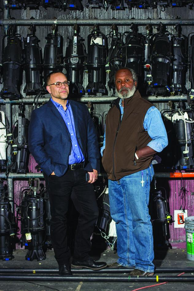 Dialogue and action: Nevada Conservatory Theatre Artistic Director Christopher Edwards, left, and UNLV acting professor Clarence Gilyard