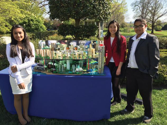 Future perfect: Hyde Park Middle School's Team Kilau, from left: Isha Shah, Sydney Lin, and Krishna Patel
