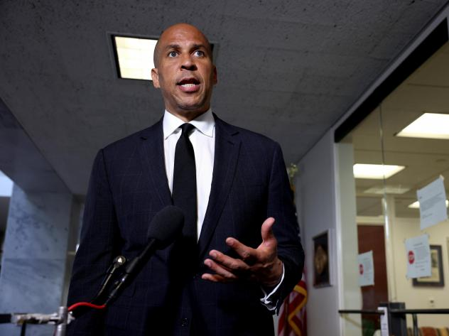 Democratic senators, led by Cory Booker of New Jersey, say they worry about how Google's products and policies may perpetuate bias.