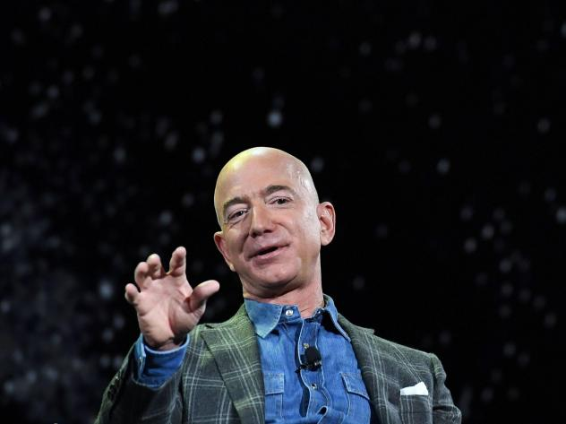 Amazon founder and CEO Jeff Bezos announced he'll be on board a spaceflight next month in a capsule attached to a rocket made by his space exploration company Blue Origin. Bezos is seen here in 2019.
