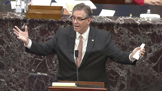 Attorney Bruce Castor represented former President Donald Trump at his Senate trial after the House of Representatives impeached Trump for the second time. Castor is now defending two people facing misdemeanor charges related to the Jan. 6 U.S. Capitol r