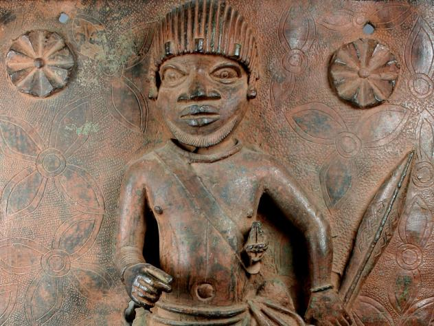 <em>Junior Court Official</em> is one of two 16th-century plaques produced at the Court of Benin that will be returned to Nigeria by the Met.