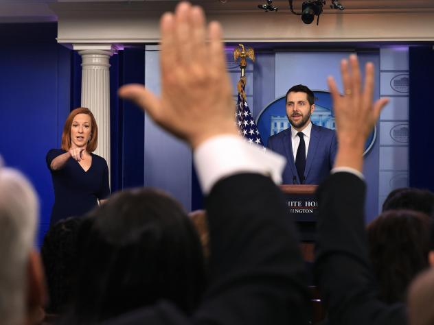 National Economic Council director Brian Deese and White House press secretary Jen Psaki take questions from reporters on July 2.