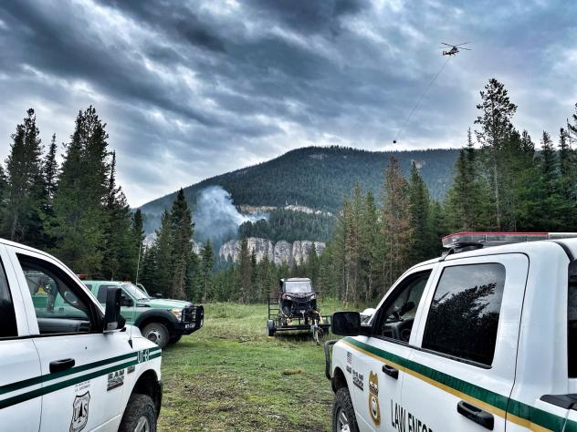 The Wheeler Mountain Fire near Bozeman, Montana was one of the hundreds of wildfires that broke out across the West in recent days.