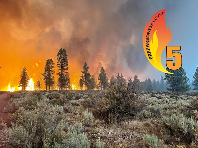 The Bootleg fire in Oregon is the largest wildfire currently burning in the United States.