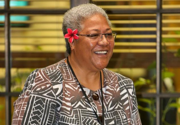 A court ruling has ended a months-long political crisis, allowing Fiame Naomi Mata'afa (here in 2013) to become the first woman to lead Samoa.