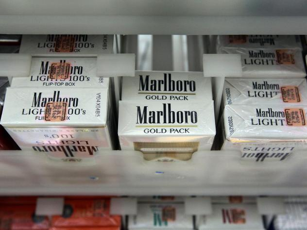 In this 2010 file photo, a pack of Marlboro cigarettes is seen at the Quick Stop store in Miami, Fla. Philip Morris International's CEO Jacek Olczak said the company will stop selling Marlboro cigarettes in the U.K. in the next 10 years.