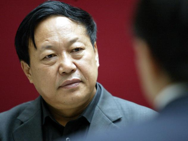 """Sun Dawu, shown here in 2005, was sentenced in a court in Hebei province on Wednesday. The billionaire pig farmer was found guilty of eight charges, including gathering crowds to attack state agencies, illegal fundraising and """"provoking trouble."""" Few onl"""