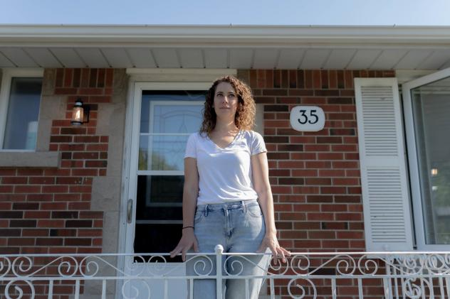 After her Facebook account was hacked, Angela McNamara struggled to get help from the social network. Using its automated process to recover her account failed to work for her, says McNamara, here at her home Monday in Hamilton, Ontario.