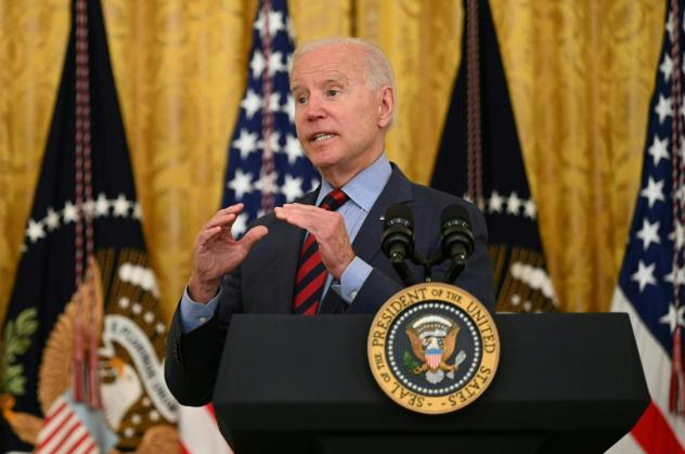 President Biden speaks Tuesday about the importance of getting vaccinated against COVID-19.