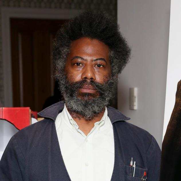 Composer and sound artist Robert Aiki Aubrey Lowe, photographed during a screening of <em>Candyman</em> on Aug. 17, 2021 in New York.