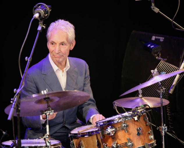 Charlie Watts onstage with Tim Ries' jazz tribute act, <em></em>The Rolling Stones Project, at a London venue in 2013.